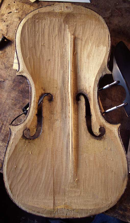 crude violin interior